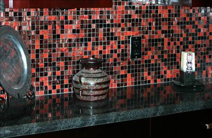 Red Tile Backsplash